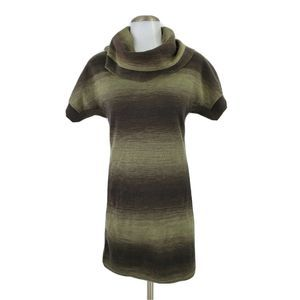 Athleta Zuni Cowl Neck Sweater Dress Green